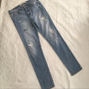 Abercrombie and Fitch Beaded Distressed Skinnies